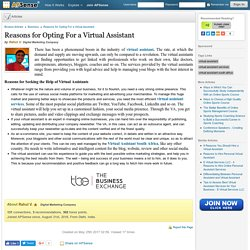 Reasons for Opting For a Virtual Assistant by Rahul V.