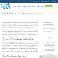 Best Reasons to Create a New Website – Web Development Miami