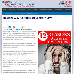 Reasons Why an Appraisal Comes in Low