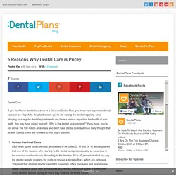 5 Reasons Why Dental Care is Pricey