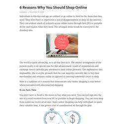 6 Reasons Why You Should Shop Online