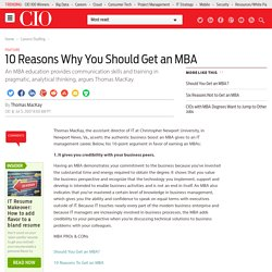 10 Reasons Why You Should Get an MBA