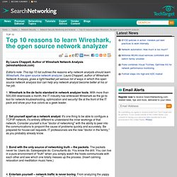 Top 10 reasons to learn Wireshark, the open source network analyzer