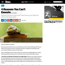 4 Reasons You Can't Execute