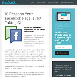 10 Reasons Your Facebook Page Is Not Taking Off