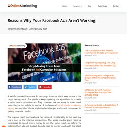 Reasons Why Your Facebook Ads Aren't Working
