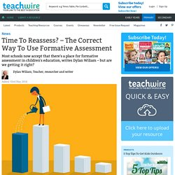 Time To Reassess? – The Correct Way To Use Formative Assessment