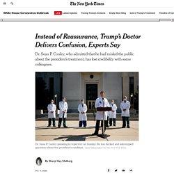 10/4/20: Trump's Doctor Misleads Public