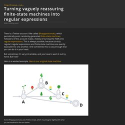 Turning vaguely reassuring finite-state machines into regular expressions @ Things Of Interest