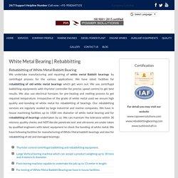 White Metal Babbitt Bearing - RA Power Solutions