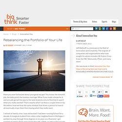 Rebalancing the Portfolio of Your Life