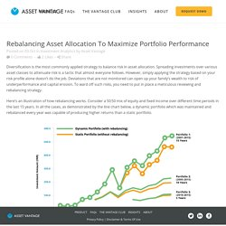 Rebalancing Asset Allocation to Maximize Portfolio Performance