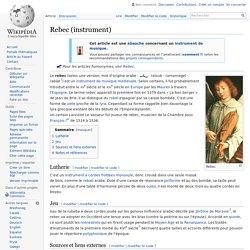 Rebec (instrument)