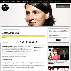 Rebecca Van Dyck | The 100 Most Creative People in Business in 2012