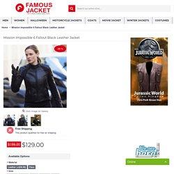 Rebecca Ferguson Mission Impossible 6 Fallout Black Leather Jacket
