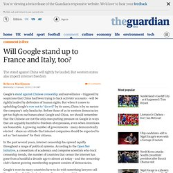 Will Google stand up to France and Italy, too? | Rebecca MacKinn