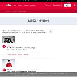 Rebecca Manzoni : son actualité sur France Inter