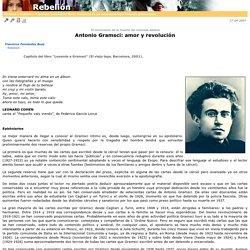 Antonio Gramsci: amor y revoluci�n