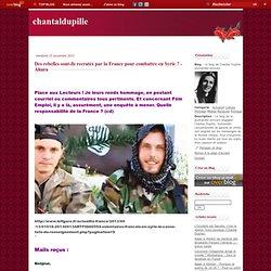 Des rebelles sont-ils recrutés par la France pour combattre en Syrie ? - Ahura