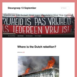 Where is the Dutch rebellion?