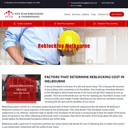 House Reblocking services Meadow Heights, Melbourne, Victoria