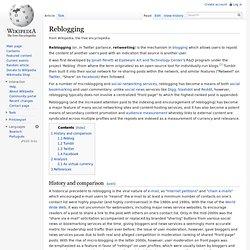Reblogging