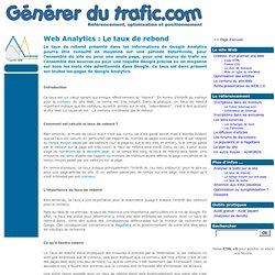 Le taux de rebond - Web Analytics - Générer du trafic