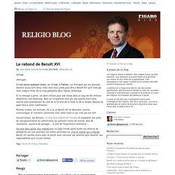 Le rebond de Benoît XVI - Religioblog