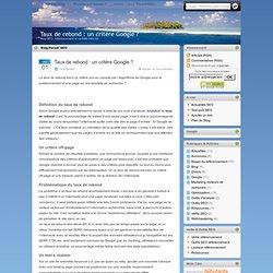 ▷▷ Taux de rebond : un critère Google ?-Paradi'SEO