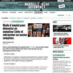 Mode d'emploi pour démonter un compteur Linky et rebrancher un ancien compteur. - Marseille Infos Autonomes