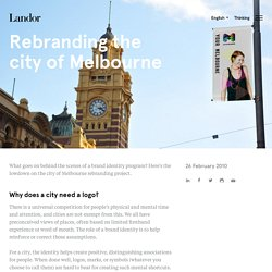 Rebranding the city of Melbourne