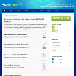 Rebreather diving soda lime and CO2 scrubber product information - Intersorb and Spherasorb - Download technical information from DIVELIME