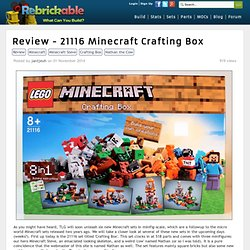 Review - 21116 Minecraft Crafting Box