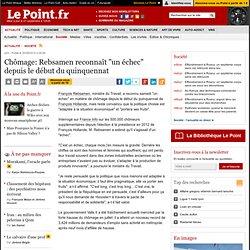 """30/08 Chômage: Rebsamen reconnaît """"un échec"""" depuis le début du quinquennat"""
