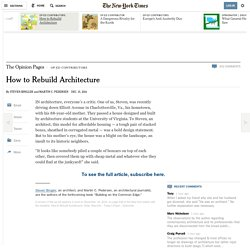 How to Rebuild Architecture