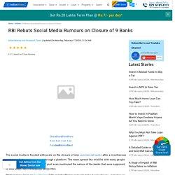 RBI Rebuts Social Media Rumours on Closure of 9 Banks