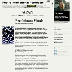 Recalcitrant words (article) - Japan
