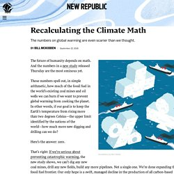 Recalculating the Climate Math