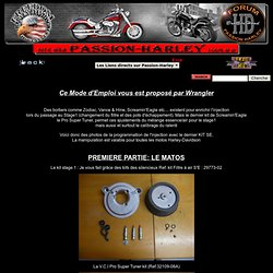 Recalibrer l'injection pour le Stage1 des Harley-Davidson par Passion-Harley®