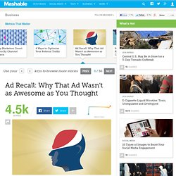 Ad Recall: Why That Ad Wasn't as Awesome as You Thought