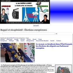 Rappel et récapitulatif : Élections européennes