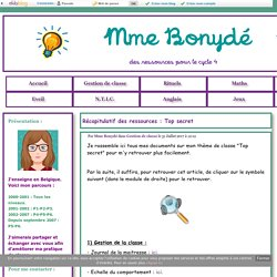 Récapitulatif des ressources : Top secret - Mme Bonydé