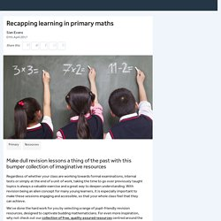 Recapping learning in primary maths