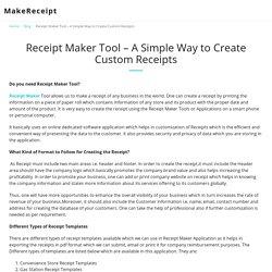 Receipt Maker Tool – A Simple Way to Create Custom Receipts