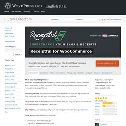 Receiptful for WooCommerce — WordPress Plugins