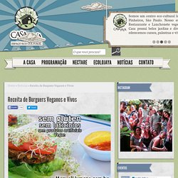 Receita de Burguers Veganos e Vivos - Casa Jaya