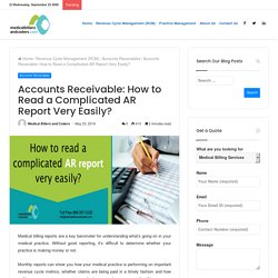 Accounts receivable: How to read a complicated AR report very easily?