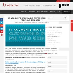 Is Accounts Receivable Outsourcing Right For Your Business