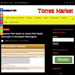 Receive PGP Mails Or Send PGP Mails (Encrypt or Dectypte Messages)