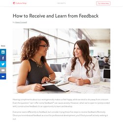 How to Receive and Learn from Feedback — Culture Amp Insights